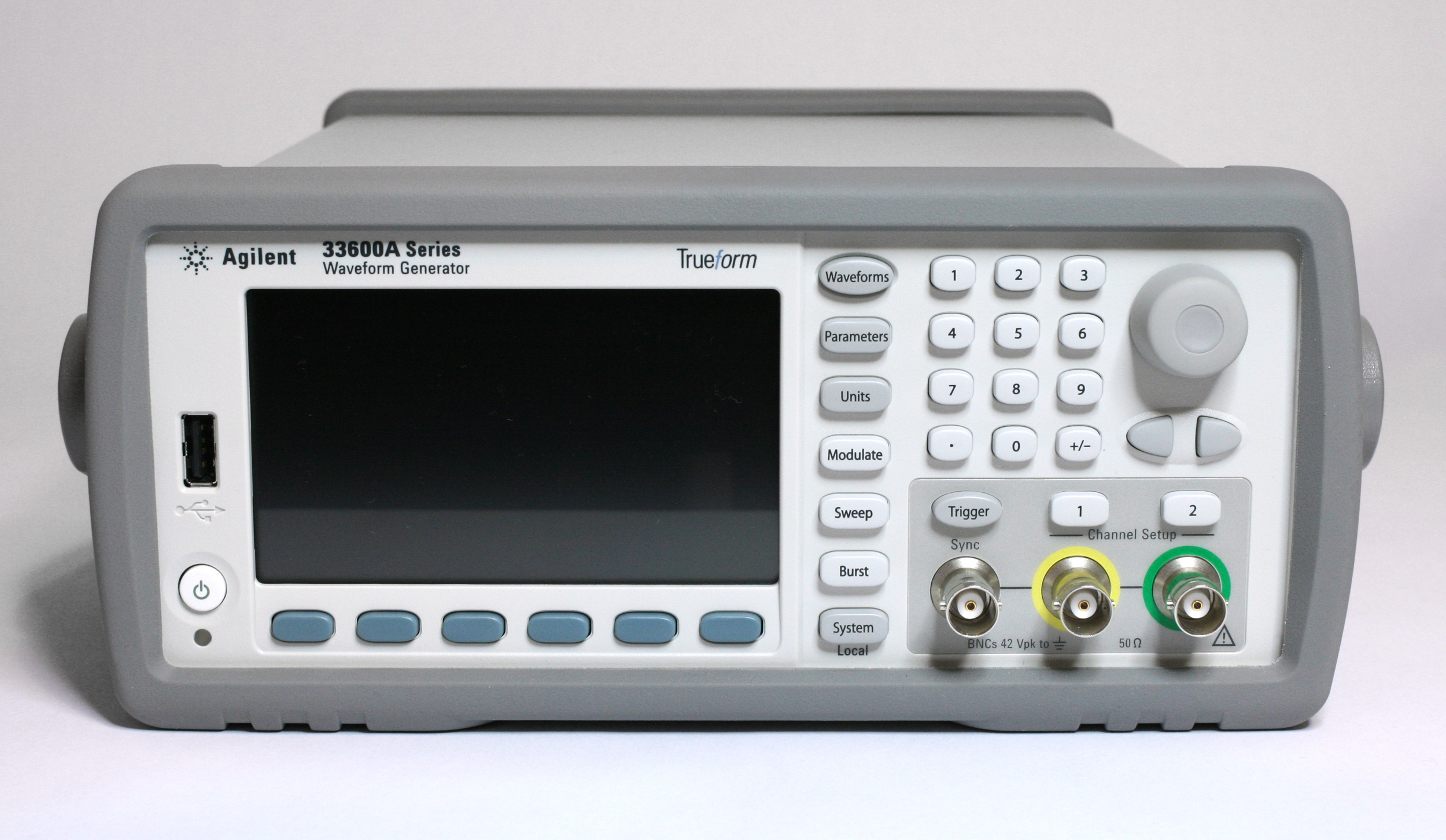 Agilent Keysight 33622a Waveform Generator Review Ee Component Signal Circuit The Function Composed Front Panel